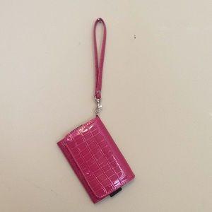 Handbags - Pink textured wristlet
